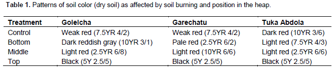 generally increase in temperature had different influences on the chroma and values of the soil red color values are formed with constant depletion of